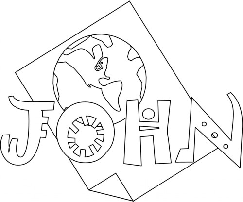 bible coloring pages john books of the bible