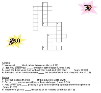 Obey God Always Crossword on Using I And Me Worksheet
