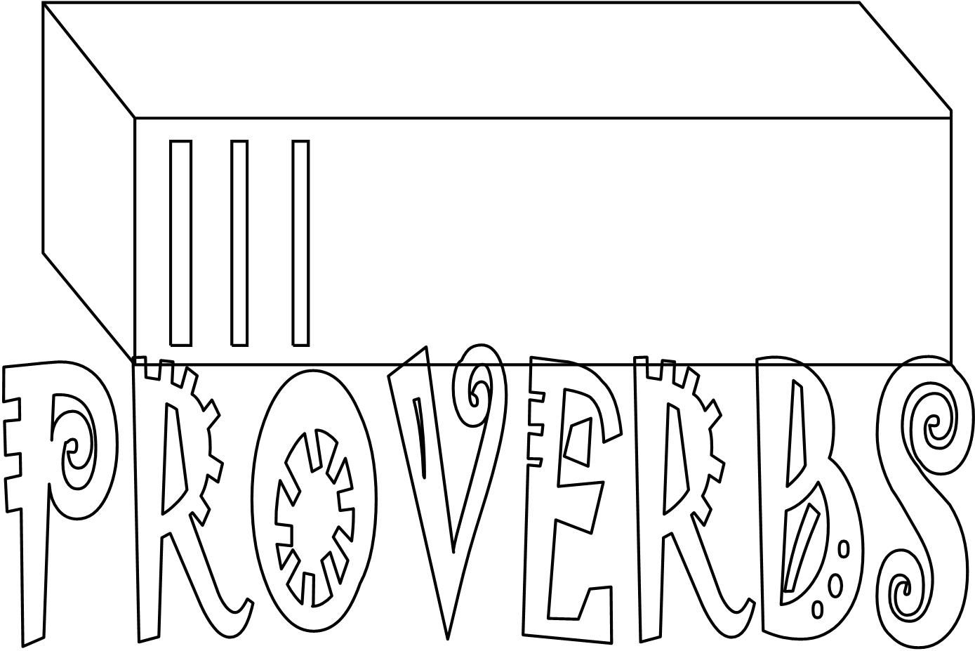 coloring pages proverbs - photo#20