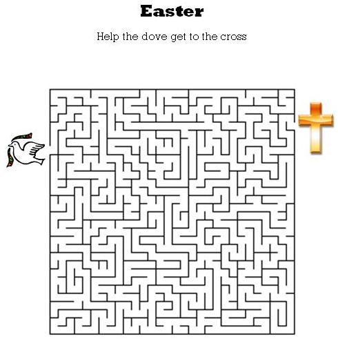 graphic about Easter Maze Printable identify Youngsters Bible Worksheets-Absolutely free, Printable Easter Maze